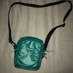 SUPREME turquoise bag